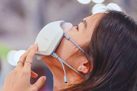 ایئرپیس اور مائیک سے لیس ایل جی کمپنی کا نیا ماسک