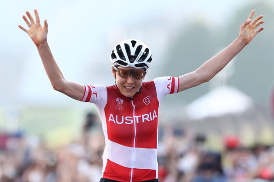 Austrian Kiesenhofer trumps Dutch for Olympic road race gold