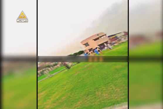 Heavy aerial firing of PTI supporters in Gujranwala after winning AJK election