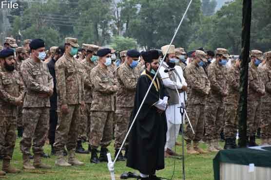 آزادکشمیر الیکشن ڈیوٹی کے دوران شہید پاک فوج کے شہدا کی نماز جنازہ ادا