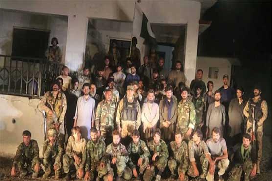 5 افسران سمیت 46 افغان فوجی نواں پاس کے مقام پر افغان حکام کے حوالے