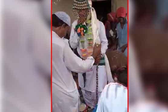 ہندو نوجوان کی بکری کیساتھ شادی، ویڈیو وائرل