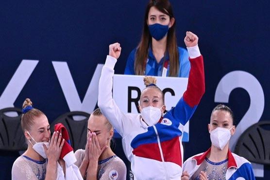 Russian women win Olympics gymnastics team final after Biles exit