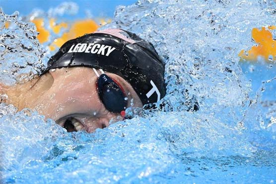 America's Ledecky wins inaugural Olympic women's 1500m freestyle gold
