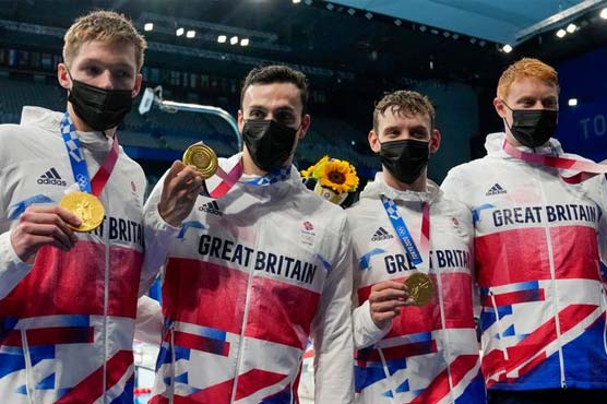 Britain win men's Olympic 4x200m freestyle relay gold