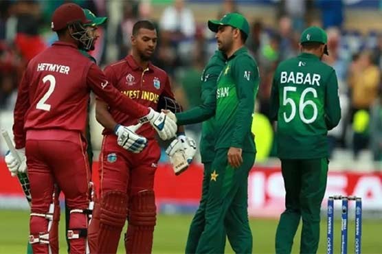 پاکستان اور ویسٹ انڈیز کے درمیان ٹی 20 سیریز کا آج سے آغاز