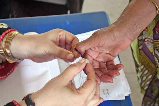Re-polling in LA-16 Bagh underway