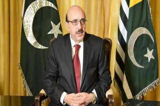 AJK president urges UNSC, UNHRC, ICRC to help stop killings of civilians in IIOJK