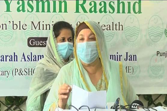 Coronavirus positivity ratio in Lahore is 3.4pc: Dr Yasmin