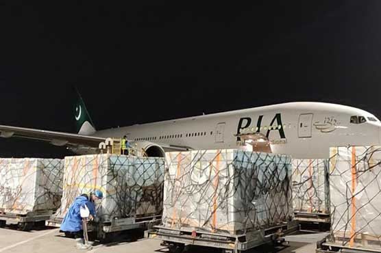 PIA special plane airlifts batch of Sinopharm vaccine to Pakistan from China