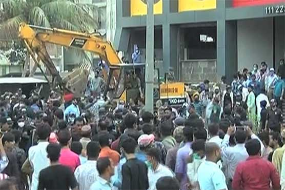 Anti-encroachment drive underway at Aladdin Park on SC's directives