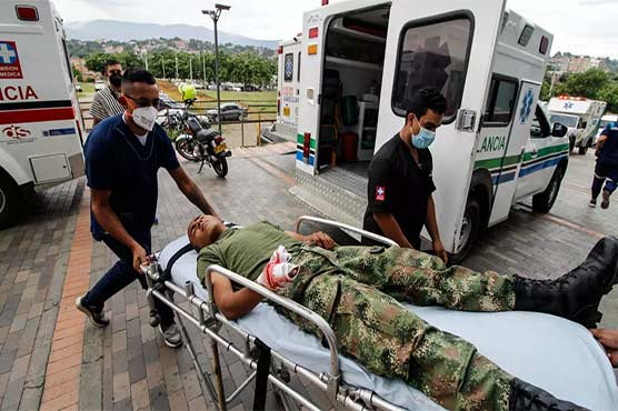 کولمبیا کے ملٹری بیس پر کار بم دھماکہ، 36 افراد زخمی