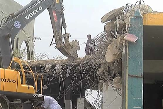 Anti-encroachment operation continues on third day in Karachi