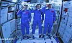 Crew starts making China's new space station their home