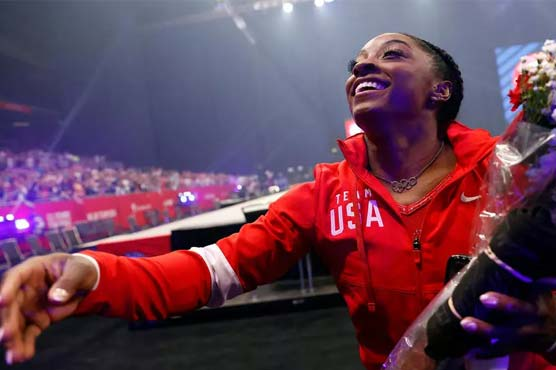 Biles wins women's all-around, named to US Olympic team