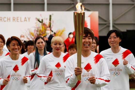 No public for Olympic torch relay in parts of host Tokyo