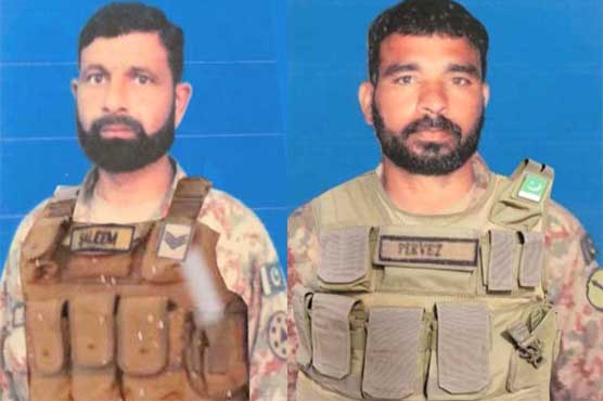 Two soldiers martyred in terrorist firing from Afghanistan