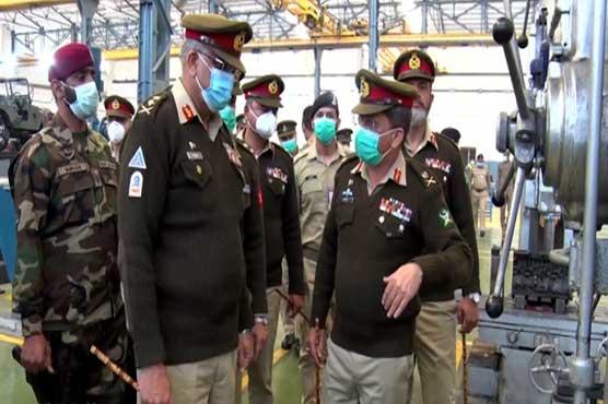 COAS Gen Bajwa visits logistic installation, workshop in Rawalpindi