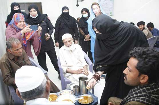 First Lady pays surprise visit to Ehsaas panagah near Data Darbar