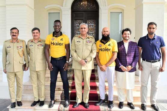 Javed Afridi, Darren Sammy, Hashim Amla meet COAS Gen Bajwa