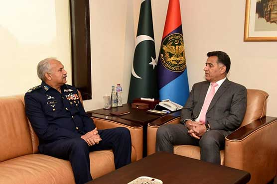 Air Chief pays farewell call on DG ISI
