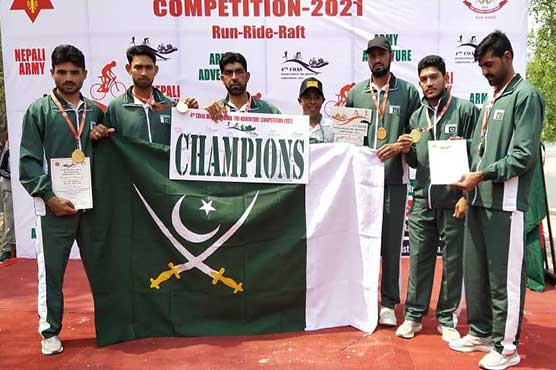 Pak army wins gold medal in international adventure competition in Nepal: ISPR