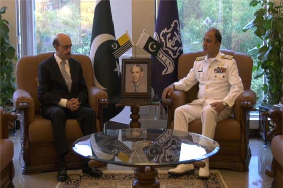 President AJK, Naval Chief discuss Kashmir dispute