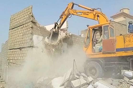 Operation to demolish illegal encroachments in Karachi underway
