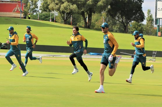 Pakistan team conduct training session at Centurion