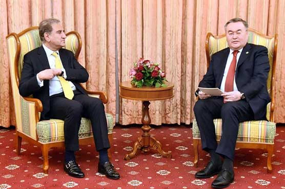 FM Qureshi, Kazakh counterpart agree to further cement cooperation