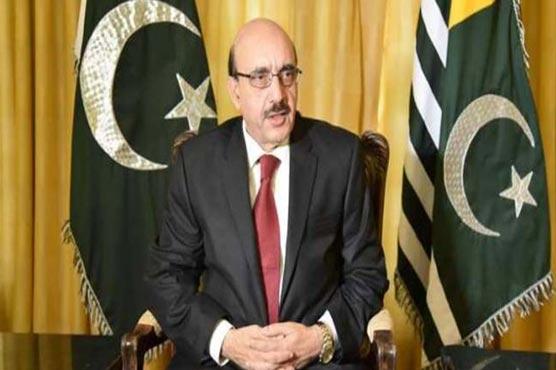 AJK President condemns arrest of martyred Harriyat leader Ashraf Sehrai's sons in IIOJK