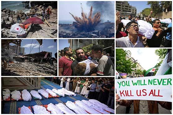 Israeli barbarism enters second week, 212 Palestinians martyred