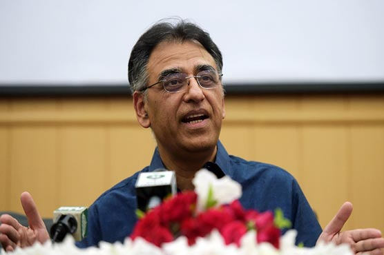 Asad Umar inaugurates mass vaccination center in Islamabad