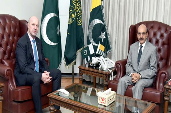 Bosnian Ambassador, AJK President, discusses Kashmir, people to people contacts