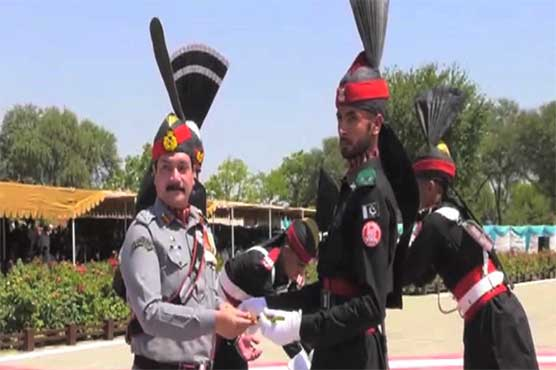 Passing out parade of recruits from Pakistan Rangers Punjab held in Mandi Bahauddin