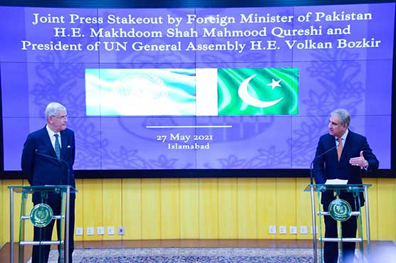 FM calls upon UN to play role for resolution of Palestine, Kashmir disputes