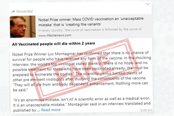 Posts claiming death within 2 years of COVID-19 vaccination fake