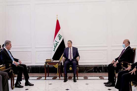 FM Qureshi meets Iraqi PM; proposes framework for political consultations