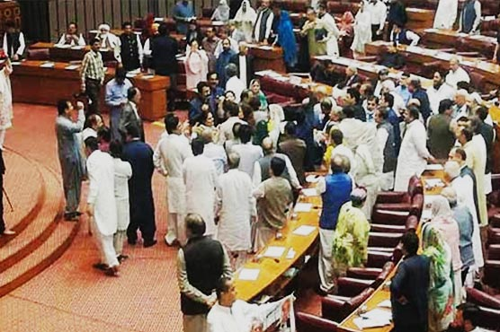 Opposition stages protest in National Assembly against increase in petrol prices