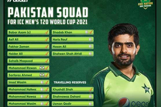 Fakhar, Sarfaraz included in Pakistani T20 World Cup squad
