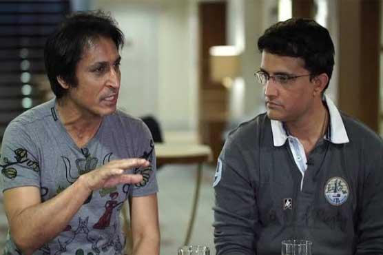 رمیز راجہ اور بھارتی بورڈ کے صدر گنگولی کی ملاقات