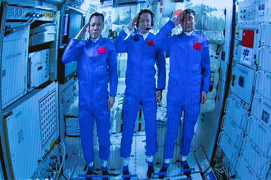 Chinese astronauts arrive at space station for longest mission