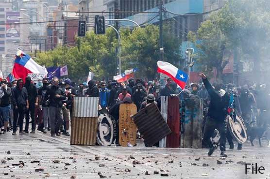 چلی: حکومت مخالف احتجاج کے دوسال مکمل ہونے پر بڑی ریلی، ہزاروں افراد کی شرکت