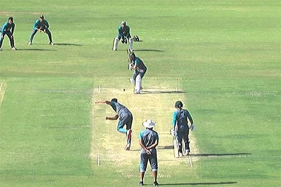 دورہ سری لنکا کے لئے پاکستان شاہینز کا کراچی نیشنل اسٹیڈیم میں تربیتی کیمپ جاری