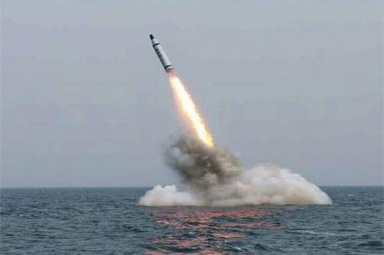 شمالی کوریا کا آبدوز سے فائر کیے جانے والے بیلسٹک میزائل کا تجربہ