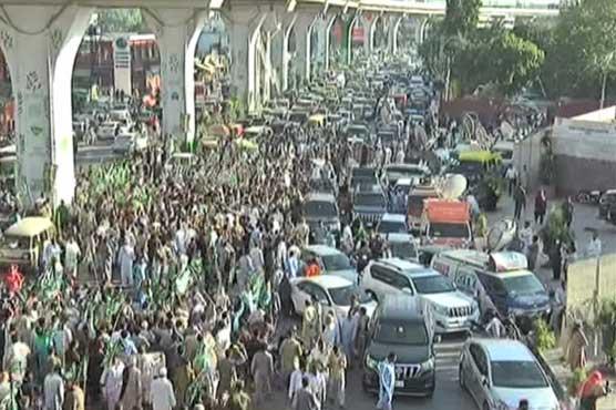 مہنگائی کیخلاف مسلم لیگ ن کا راولپنڈی میں احتجاج، حکومت مخالف نعرے بازی