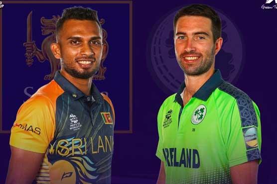 ٹی 20ورلڈ کپ:سری لنکا کی آئرلینڈ کے خلاف بیٹنگ جاری