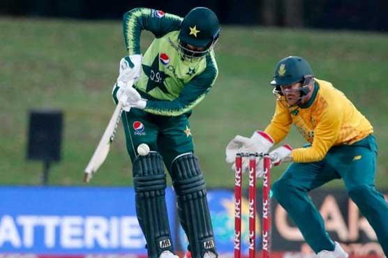ٹی 20ورلڈ کپ:وارم اپ میچ ،پاکستان کی جنوبی افریقہ کے خلاف بلے بازی جاری