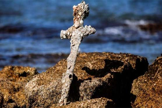 صلیبی جنگ میں استعمال ہونیوالی قدیم تلوار دریافت