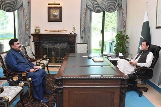 وزیراعظم سے شیخ رشید کی ملاقات، نالہ لئی منصوبہ کی منظوری پر شکریہ ادا کیا